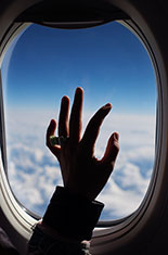 Hand and plane window.